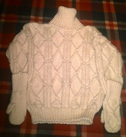 "Aran sweater ""Diamonds"""